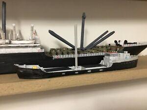 N Scale Waterline Coastal Freighter  cargo ship 130 feet 3 d print Unpainted.
