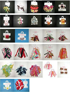 NEW Gymboree barrette clip hair curly ribbon pony tail O holder pigtails 4 5 6 7