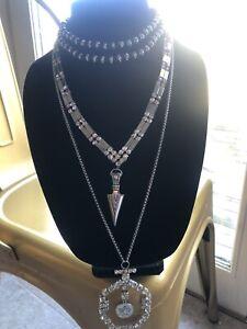 Designer Inspired Silver Tone Necklace