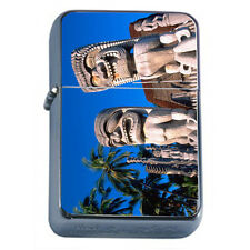 Tiki Statues D4 Windproof Dual Flame Torch Lighter Polynesian
