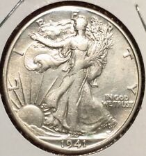 WOW!! ESTATE FIND! 1941 S SILVER WALKING LIBERTY HALF DOLLAR 50c LIKELY UNC/BU-