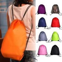 Men Women Drawstring Backpack Tote Bag Sport Shoe Bag Waterproof Bag