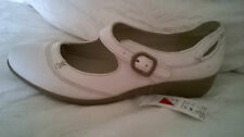 MARKS & SPENCER Ivory Beige Leather Loafers/Shoes - UK Size 7.5 - NEW