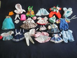 VTG Tiny Doll Clothes Lot (24) Kelly, Little Kiddle Barbie Baby & More SO CUTE!