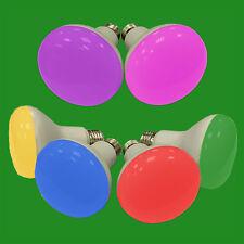 2x 5W LED R63 Coloured Reflector Disco Spot Light Bulb ES E27 Screw Lamp 85-265V