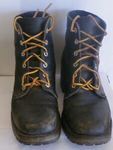 Pair of Frye Lace Up Boots Black Combat Style Size 7