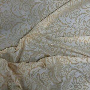 Cream DAMASK Taffeta Silk Velvet Dress Curtain Blinds Victorian Gothic 150 cm