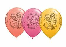 "5 Disney Princess Belle Beauty and The Beast 11"" Qualatex Latex Balloons"