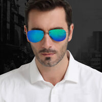 New Mens Rimless Polarized Sunglasses Mirrored Outdoor Driving Glasses Eyewear