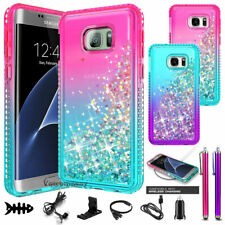 For Samsung Galaxy S7 / S7 Edge Luxury Liquid Glitter Bling Phone Case Cover