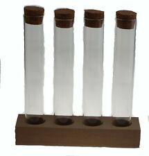 Support en bois pour 4 tubes à essais - vendu sans tube -