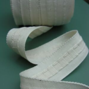 CURTAIN HEADING PENCIL PLEAT HEADER TAPE 1 inch WIDE ( CHOICE OF LENGTH )