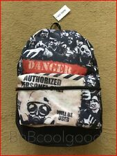 Danger Zombie Bio Backpack & Walking Dead Daryl Pin HTF Ships FREE Priority Mail