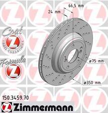 Zimmermann 150.3459.70/150.3460.70 Trasero Discos De Freno Par (Fórmula Z)