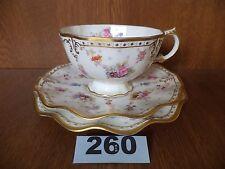 Royal Crown Derby Antoinette-Tea Trio-TAZZA/PIATTINO/PIASTRA LATERALE