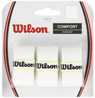 Wilson WHITE  Pro Overgrip - 3 Pack - Tennis - Grip Tape - FAST SHIP!!