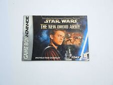 STAR WARS THE NEW DROID ARMY manual only Nintendo Game Boy Advance GBA ENGLISH