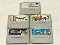 Dragon Quest 1-2 3 5 6 Warrior Lot 5 CIB SFC Super Famicom SNES NTSC-J Japan