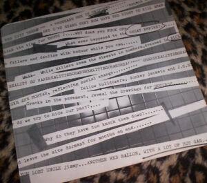 JAM ~ INNER SLEEVE ONLY FOR U.S. IN THE CITY LP. Orig US 1977. EX+.