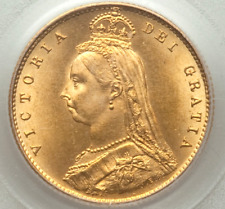 More details for 1887 gold half sovereign victoria jubilee head pcgs ms66 gem