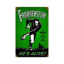 Frankenstein Metal Sign Universal Monsters Dracula Wolfman Horror Film