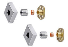 """Thermostatic Shower Bar Mixer Valve 3/4"""" Square Brass Fast Easy Fit Fixing Kit"""