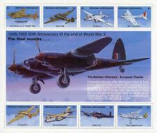 Grenadines Grenada 1995 MNH WWII VE Day 50 End World War II 8v M/S Planes Stamps