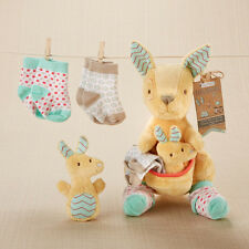 Kangaroo Plush Plus Socks And Rattle Gift Set Baby Shower Gift