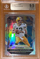 Pop 1! 💎2015 Aaron Rodgers PANINI SILVER PRIZM REFRACTOR #112 BGS 9.5 PSA🔥HOT!