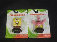 "Set of 2 New Spongebob /& Patrick Star Mini Figure Cake Topper Flat Base 2.5"""
