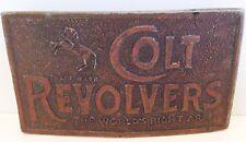 Vintage Colt Revolvers Metal Belt Buckle Reproduction 1970s