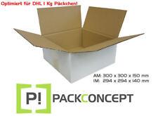 DHL Karton WEISS 300 x 300 x 150 mm  optimal als DHL Päckchen 1Kg Karton #7