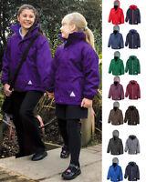 Result Girls Kids Hooded Fully Waterproof Reversible Jacket with Fleece Inner
