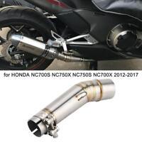 Exhaust Pipe Muffler Middle Link Tube for Honda NC700S NC750X NC750S NC700X ok