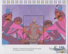 Guyana Bloque 370 (completa edición) nuevo con goma original 1993 walt disney Ze
