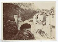 C846 Photographie originale ancienne 1910 Montagne Lamalou ? pont rivière