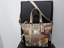 Authentic Coach Poppy Pop C Applique Shoulder Bag Hand Bag Tote  F21101 RARE