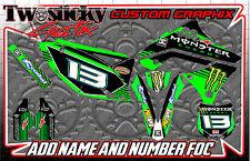 KAWASAKI KFX KX 125/150/250/450  MOTOCROSS MX GRAPHICS STICKERS   ALL YEARS