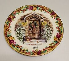❤ 2001 ROYAL ALBERT OLD COUNTRY ROSES HOME FOR CHRISTMAS FESTIVE WELCOME PLATE❤