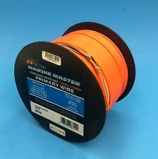 DEKA 16 AWG ORANGE Marine Tinned Copper Boat Wire Cable 100 Feet Made in USA