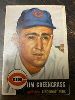 1953 Topps #209 Jim Greengrass Cincinnati Reds