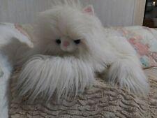 "RARE Long Hair White Plush Very Fluffy Cat Stuffed Animal~Large 24"" HTF"