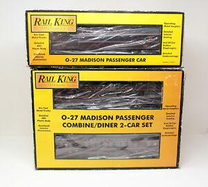 3-Car O-27 Madison Passenger Set - PENNSYLVANIA - MTH Railking O Gauge Diner