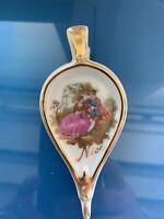 Vintage Porcelaine Artistique FM Limoges France Souvenir Courting Couple Bellows