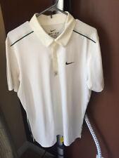 Nike Dri Fit Roger Federer Tennis Golf Polo Shirt Size L