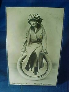 Early 20thc KELLY SPRINGFIELD TIRES Advertising REAL PHOTO POSTCARD