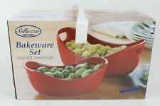 Sollazzo Bakeware Set 2 Quart and 1.25 Quart Summer Party Baking Dishes Ceramic