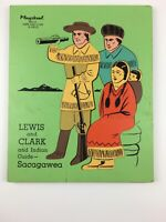 Vintage Wooden Playskool Puzzle Lewis and Clark and Indian Guide Sacagawea Rare