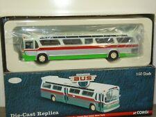 GM Fishbowl Green Bus Lines New York - Corgi US54315 - 1:50 in Box *45395