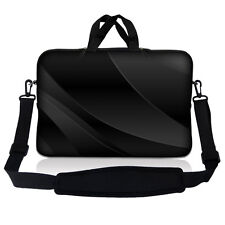 "15.6"" Laptop Sleeve Bag Case w Shoulder Strap HP Dell Asus Twilight Gray Black"